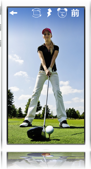 ゴルフスイングイメージ 撮影